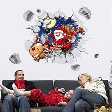 OXGIFT Made in China Alibaba wholesale Manufacture Christmas Pvc waterproof 3d three-dimensional wall stickers