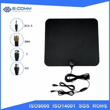 Hot selling Flat HD Digital Indoor Amplified TV Antenna - 50 Miles Range TV ISDB ATSC DVB-T DVB-T2 Antenna
