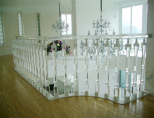 Clear stair handrail ,baluster,pillar for home decoration