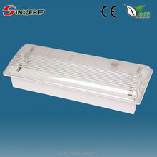 ABS PC diffuser Non-maintained Bulkhead Fluorescent Emergency Lights