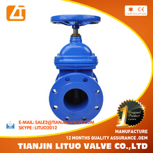 DIN3352 F4/F5 standard ductile iron gate valve drawing