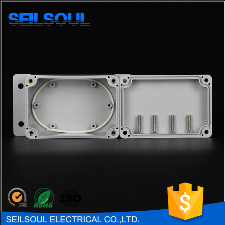 Seilsoul 100x68x50 Small Electrical Junction Box Plastic Enclosure Low Cover Sealed Waterproof Junction Box