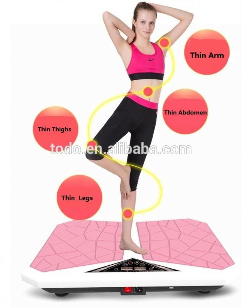 Manufacturing ultra slim body vibration plate machine with Red