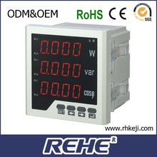 High Quality REHE Meter digital three phase active and reactive power factor combination meter