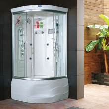 HS-SR9090-1X sunlight four side glass steam shower room