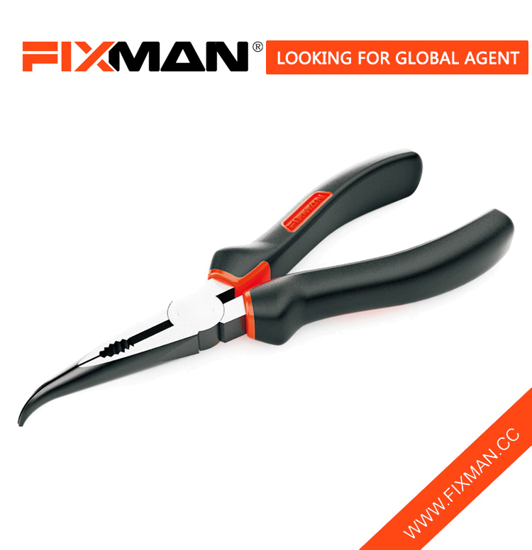 Profesional Industrial Quality Pliers FIXMAN bent nose plier hand tool