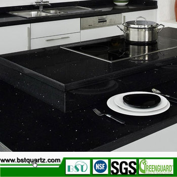 Black Galaxy Quartz Stone Counter Top