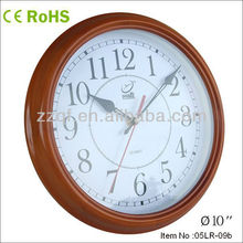 10 inches small wooden decorative clock with metal wall clock hands