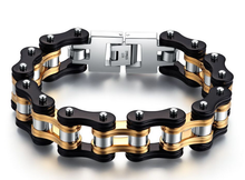 stainless steel men biker bracelet