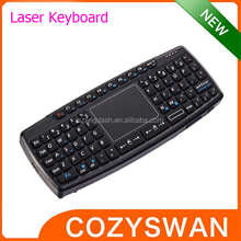 Mini Wireless Keyboard Touchpad Laser Point TPU Keys