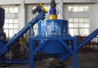 waste PE film plastic recycling machine
