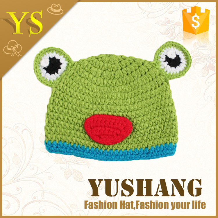 Cute Animal Designs Crochet Baby Hat Beanie Photography props Newborn Costume Frog
