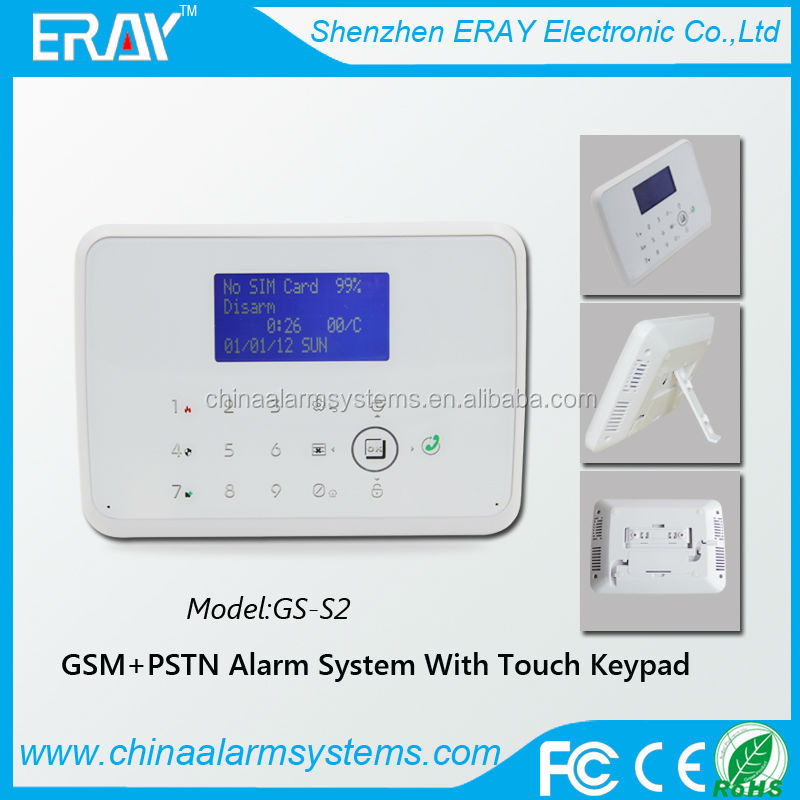 Wireless Two-way intercom touch keypad GSM+PSTN hone security alarm system with Android/IOS APP