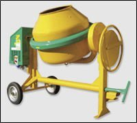 Concrete mixer to tow mod. S360 type S75 Electric motor