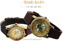 rhinestones IP gold diamond watch women leather watch lady vogue watch