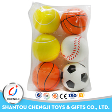 Colorful custom 4cm PU small soft rubber foam ball for kids
