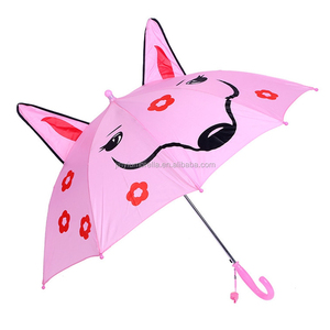 JINYI New character design 3D promotion kids umbrella wholesale children cartoon Umbrella with ear and whistle