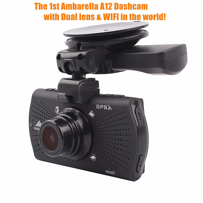 2017 Ambarella A12 FHD 1080P Car Camcorder DVR 1440P Dual Camera Car DVR GPS WIFI Speed Alarm