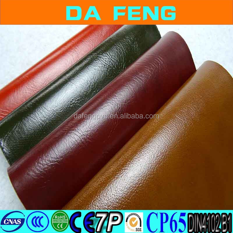 Factory price ECO PVC synthetic leather fabric for sofa, Sofa PVC Leather material