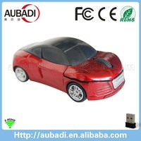 custom logo 2.4g wireless optical novelty mini car mouse for gift
