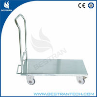 BT-SDT007 Hospital stainless steel Trolley with flat plate