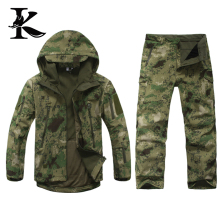 Breathable softshell jacket camouflage Waterproof Pants Camo suit