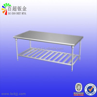 chinese supplier Stainless Steel Dining Table with Storage metal sheet part
