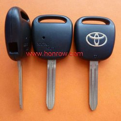 Toyota 1 button remote key blank with TOY43 blade (with light hole)
