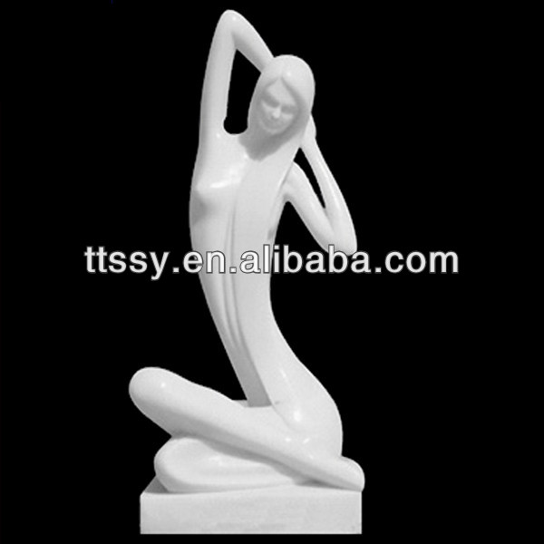 Stone carving lady art sculpture