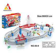 plastic train tracks toy for city model toys