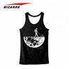 Unisex New arrival custom 3D printing sublimation gym running singlet tank top