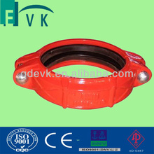 Ductile iron red grooved rigid coupling(UL/FM)