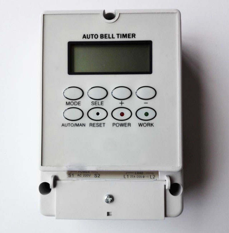 Intelligent microcomputer auto bell ring timer controller school bell 220V ZYT08 80 times one day