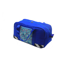 Popular Fashionable Blue Sublimation Printed Travel Storage Bag Organizer Polyester Children Kids Travel Bags with Low Moq
