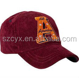2014 Newest fashion corduroy wholesale baseball caps and hats 6 panels