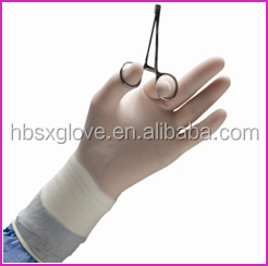 medical latex disposable surgical gloves