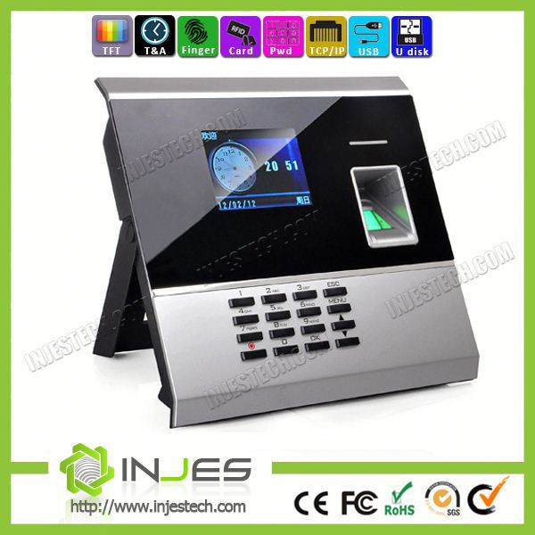 Low Price Optical Sensor TFT Screen TCP/IP Network bluetooth time attendance system(ME3000)
