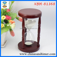 Decorative Desktop Large Wood 30 minute Hourglass for Gifts