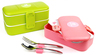 LOOK BACK Plastic Colorful Bento Lunch Box made for Japan
