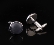 Fashion Jewelry 2017 Wedding Suits Blank Black Stone Cufflinks For Men