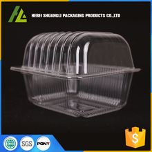 oem clear plastic blister box for cake packaging with hinged lid