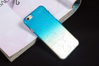4.7 inch Mobile Phone Accessory Ultra Thin Clear Crystal 3d Water Rain Drop Phone Case back Cover For iPhone 5 6 6 plus