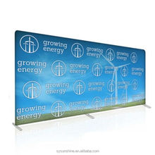 7.5,10 ft Custom Printed Tension Fabric Backdrop Wall Kit, Straight Display Booth - EXPOs With Hardware