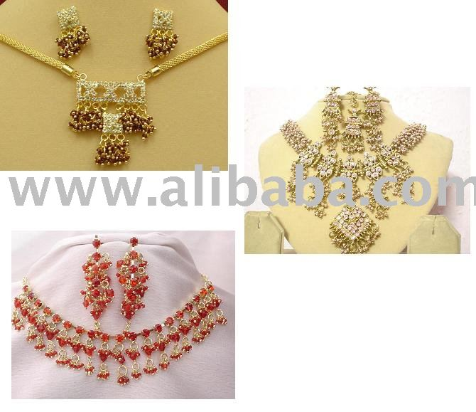 Artificial / Imitation, Costume Jewelry Set & Ladies Necklace Set