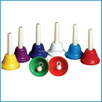 8 different tones musical instrument percussion bells set/hand bells/music toy hand bell