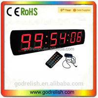 "Godrelish4"" home decor LED Countdown Timer wall mounted clock"