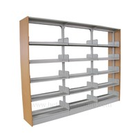 Metal and Wooden Used Library Shelving