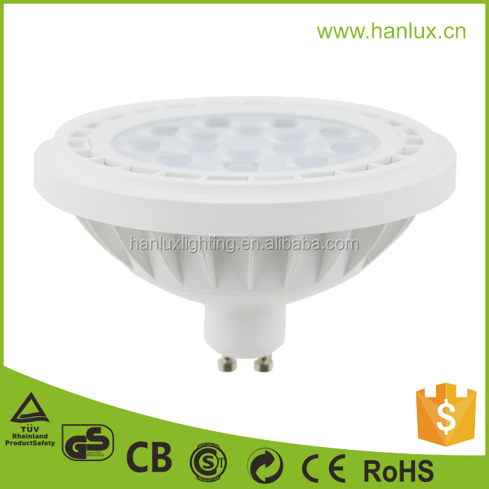 High quality led ar111 gu10 dimmable 15w spot light