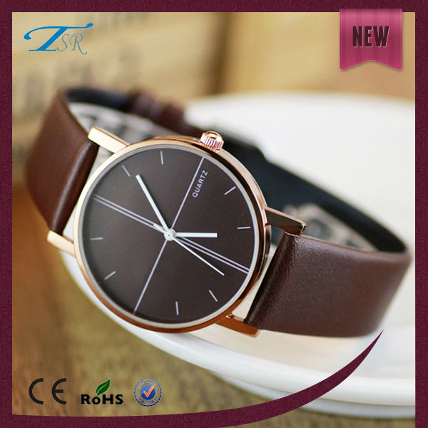 Valentine women promotional popular leather wristband china brand watches