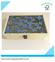 New design laser cut wooden box for light,wooden gift box,packing box